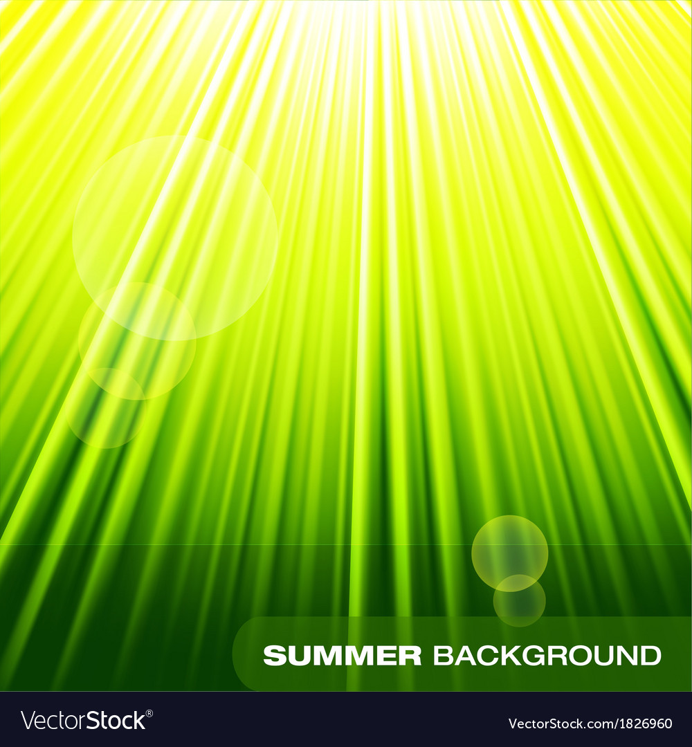Summer sunburst on green background vector | Price: 1 Credit (USD $1)