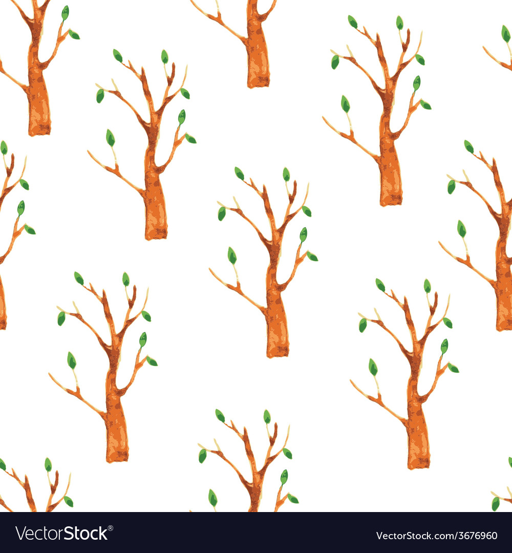 Trees seamless pattern vector | Price: 1 Credit (USD $1)