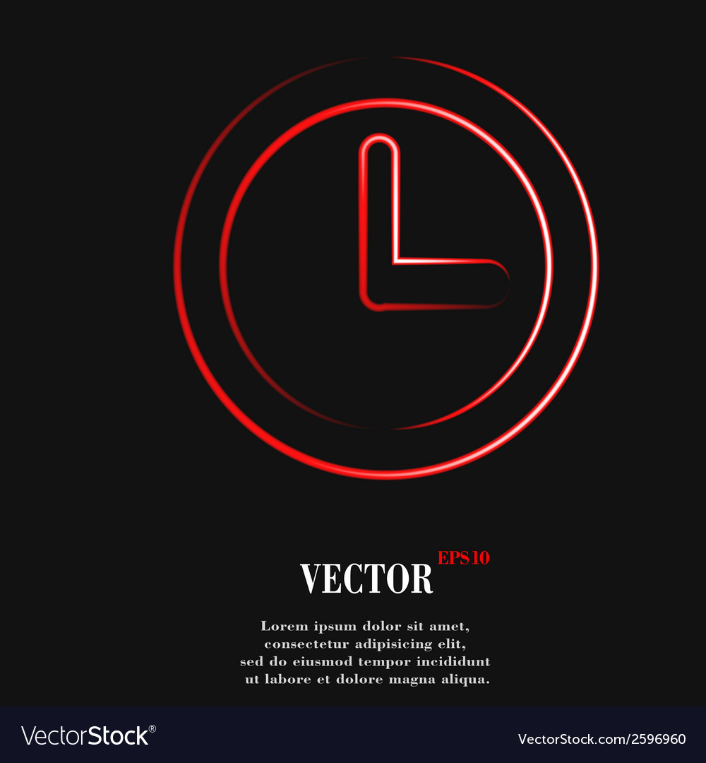 Watch flat modern web button and space for your vector | Price: 1 Credit (USD $1)