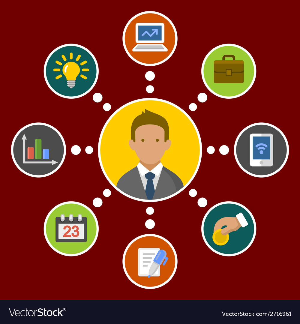 Business concept infographic design elements in vector   Price: 1 Credit (USD $1)