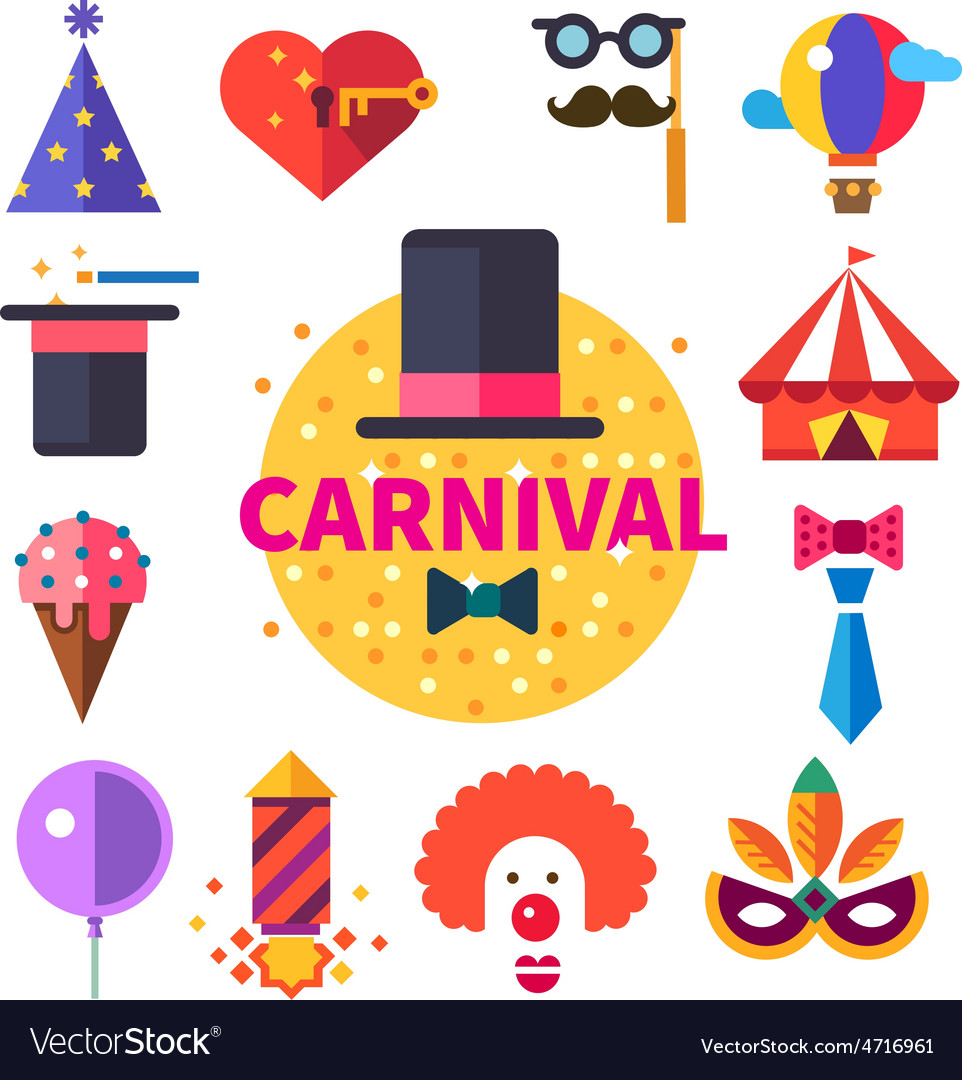 Carnival tricks sweets and smiles vector | Price: 3 Credit (USD $3)