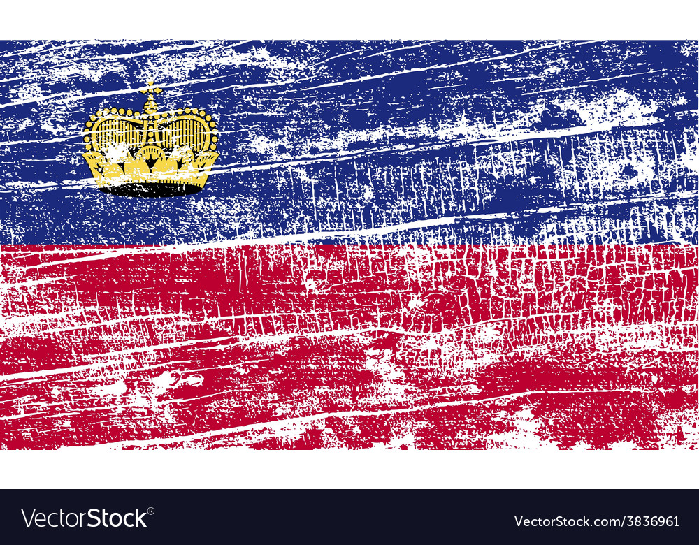 Flag of liechtenstein with old texture vector | Price: 1 Credit (USD $1)