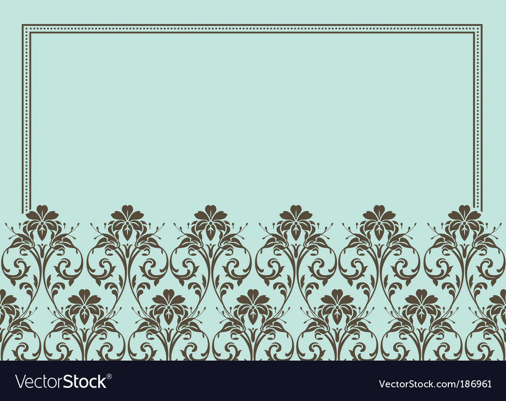 Floral patterned frame vector | Price: 1 Credit (USD $1)