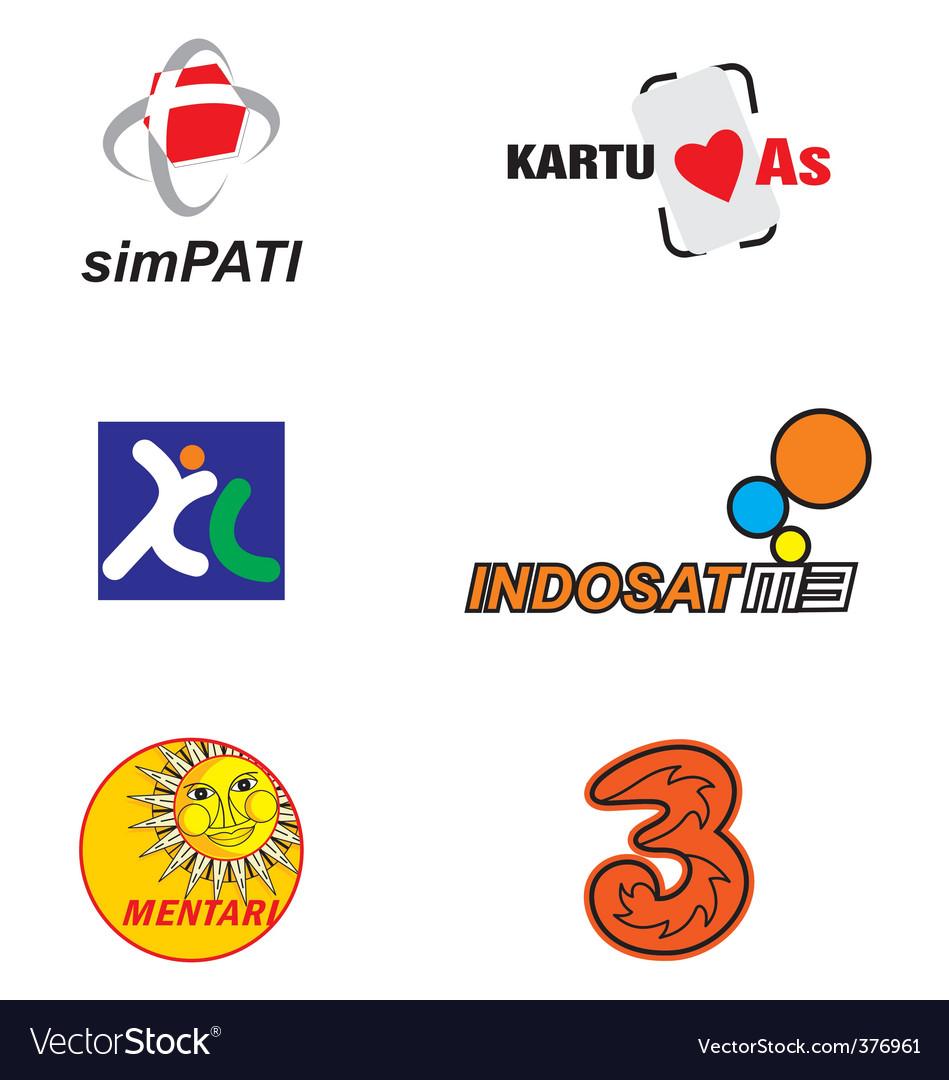 Indonesian gsm operator vector | Price: 1 Credit (USD $1)