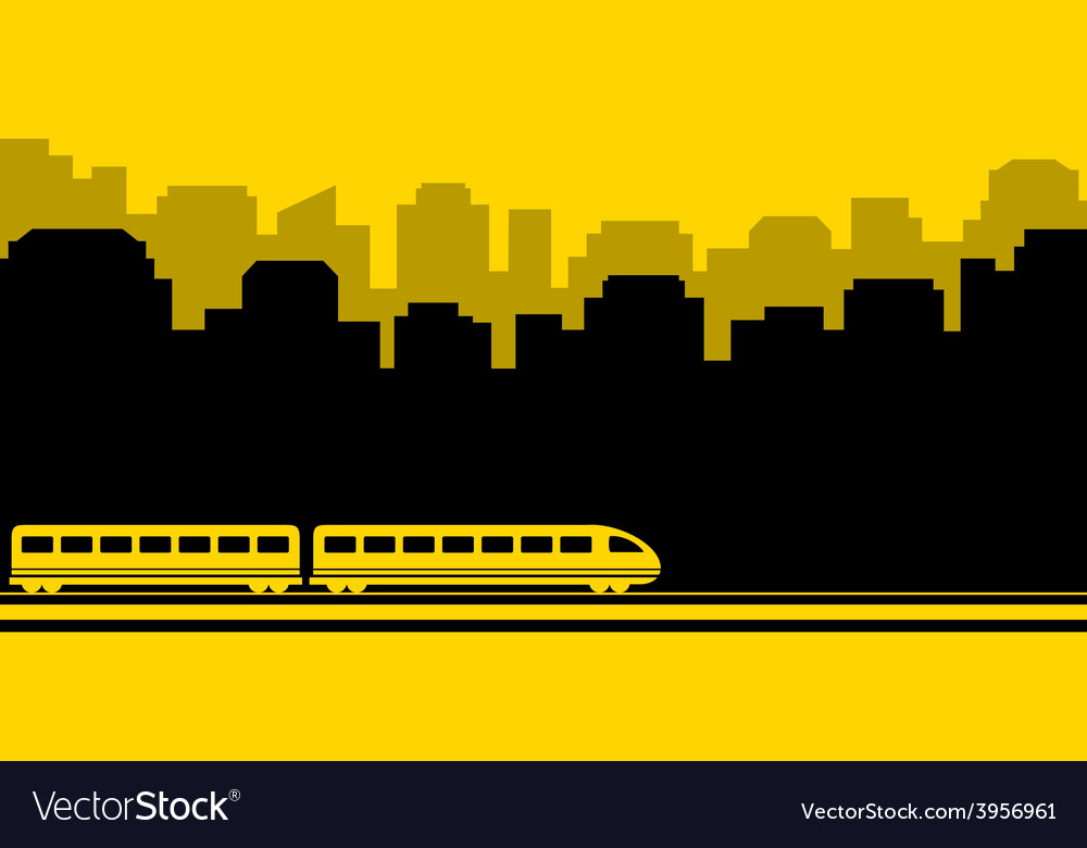 Railway transport background vector | Price: 1 Credit (USD $1)
