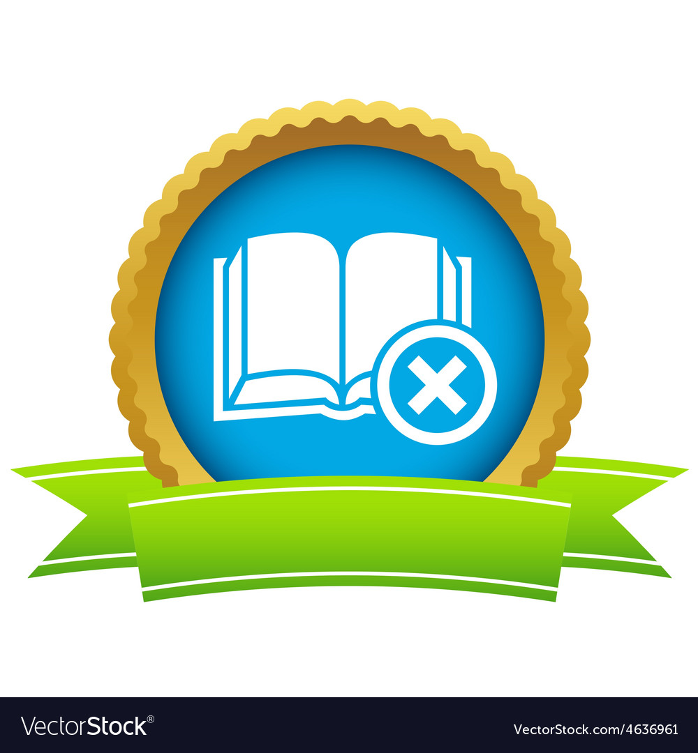 Remove book icon vector | Price: 1 Credit (USD $1)