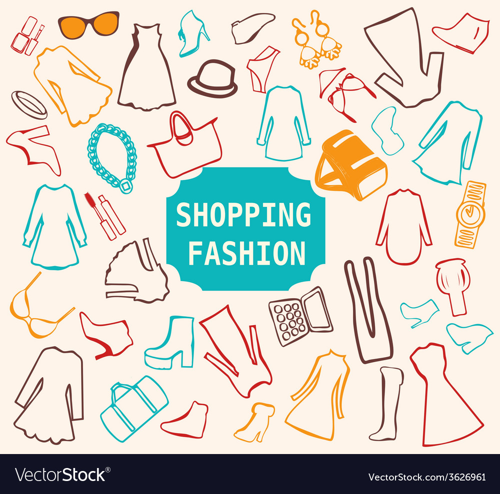 Shopping fashion clothing vector | Price: 1 Credit (USD $1)