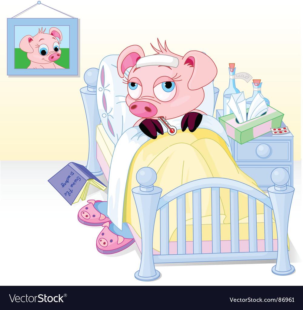 Swine flu vector | Price: 5 Credit (USD $5)