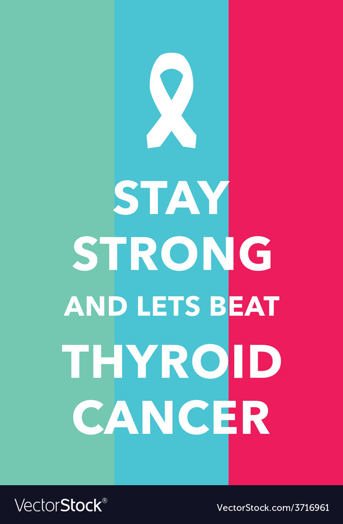 Thyroid cancer poster vector | Price: 1 Credit (USD $1)