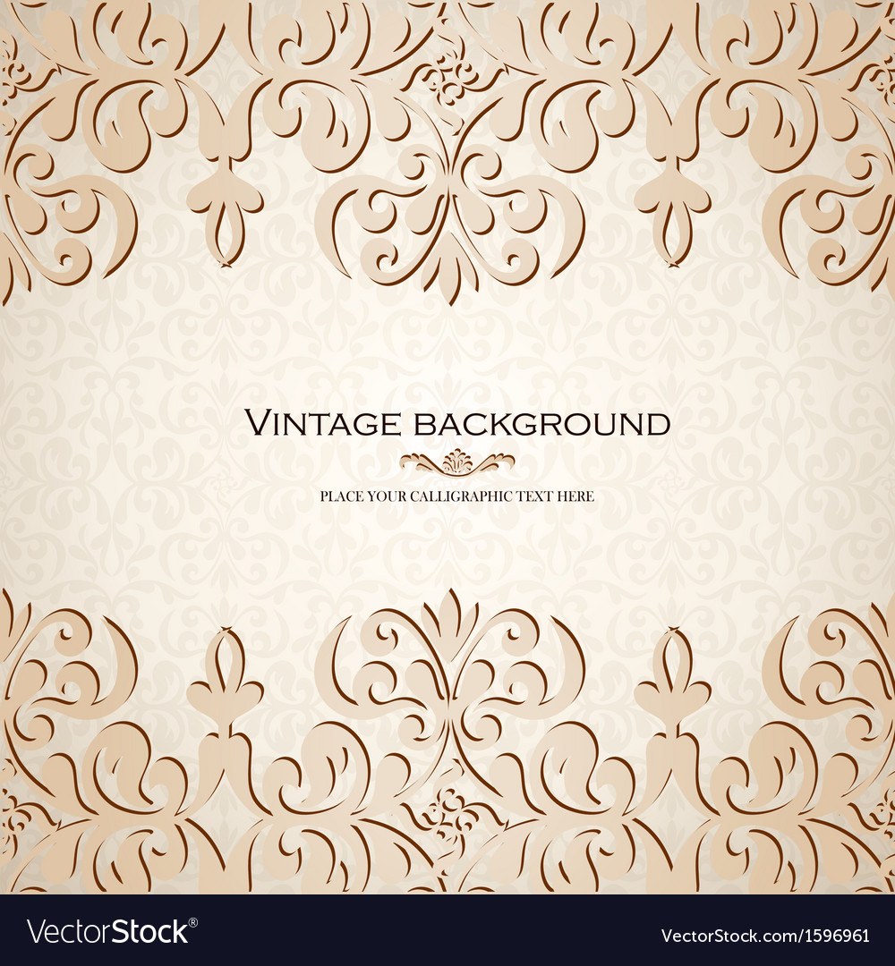 Vintage ornamental invitation card vector | Price: 1 Credit (USD $1)