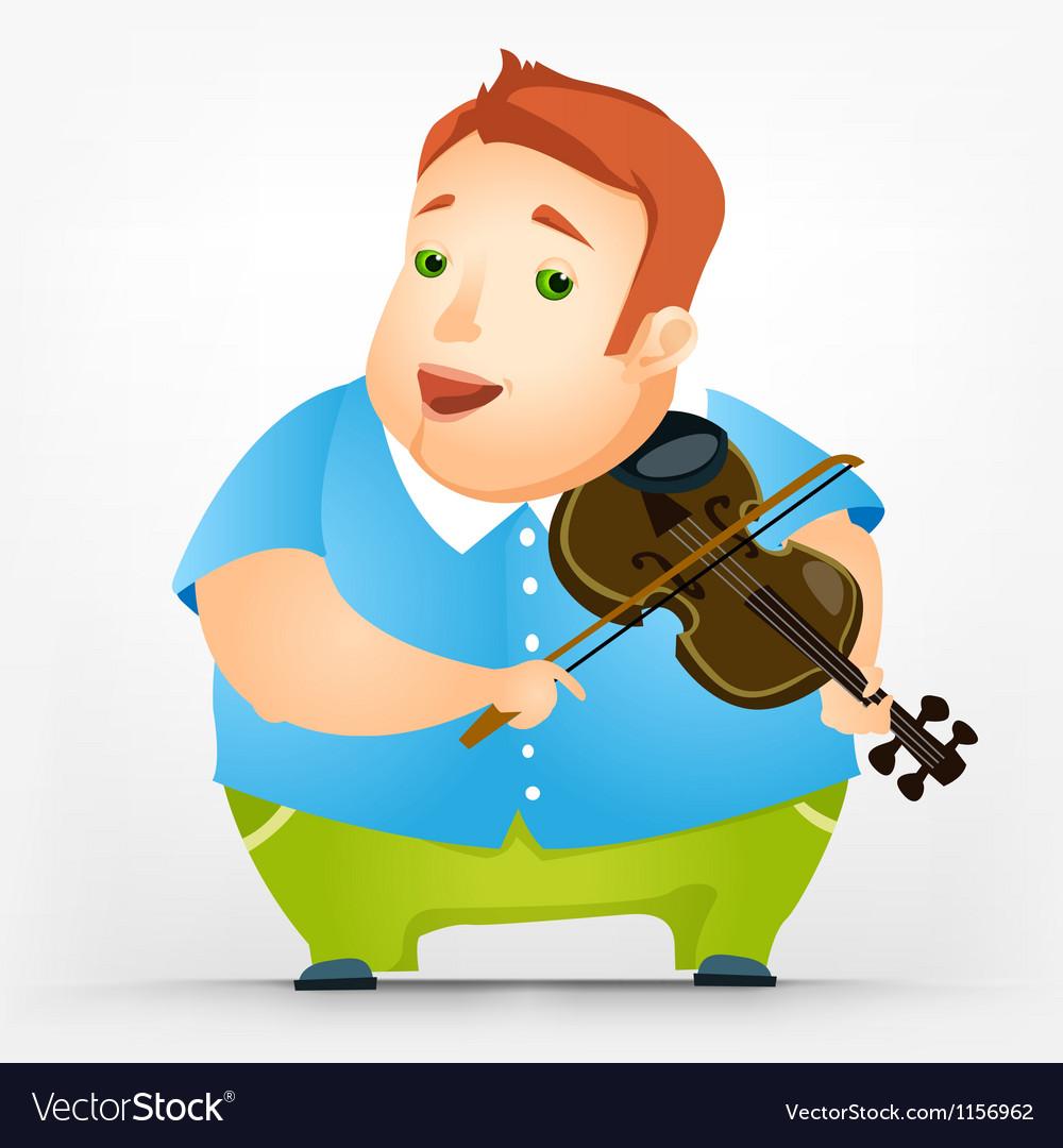 Cheerful chubby man vector | Price: 1 Credit (USD $1)