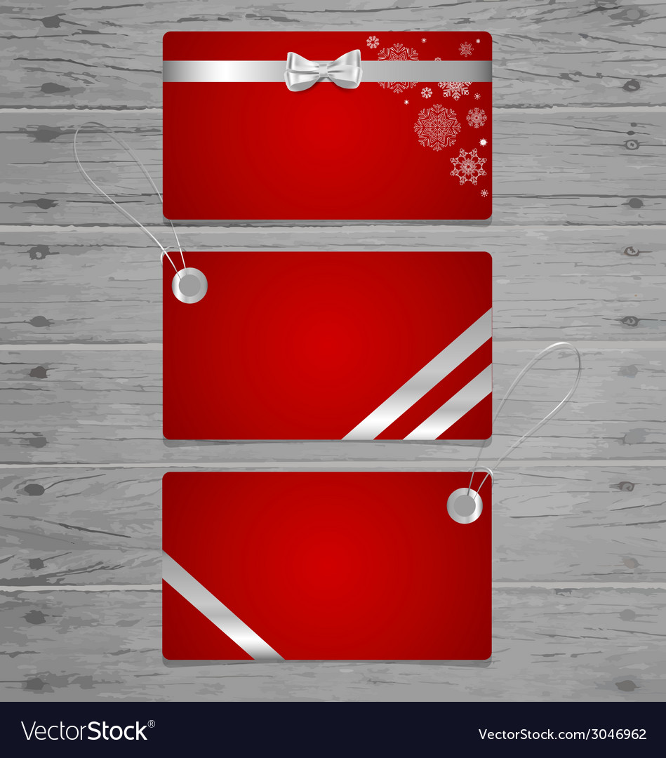 Gift cards with gift bows and ribbons vector | Price: 1 Credit (USD $1)