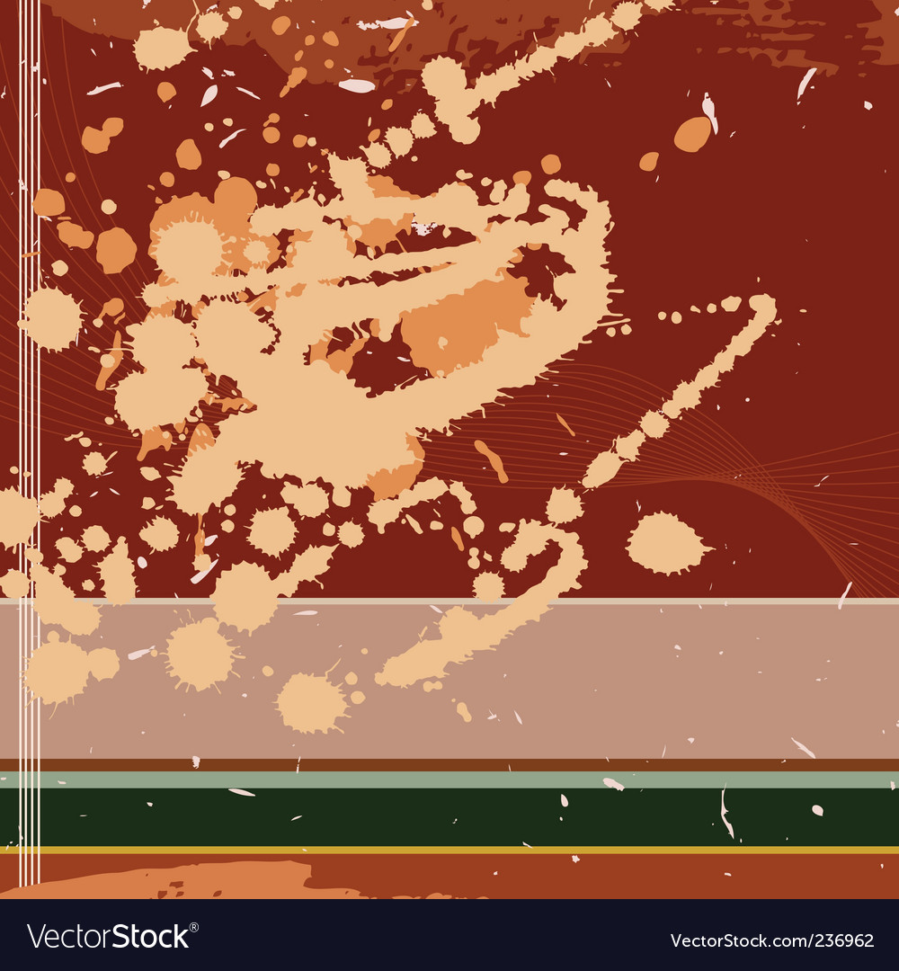 Grungy square background with blot vector | Price: 1 Credit (USD $1)