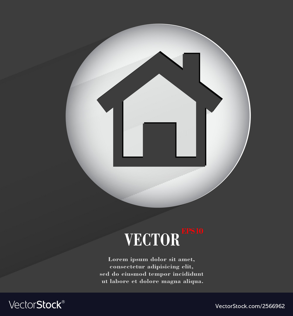 House flat modern web button with long shadow and vector | Price: 1 Credit (USD $1)
