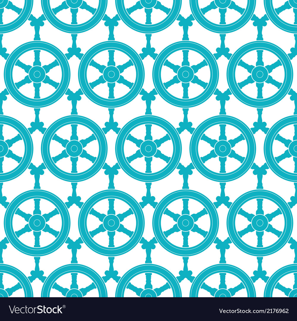 Nautical ship wheels abstract blue seamless vector | Price: 1 Credit (USD $1)