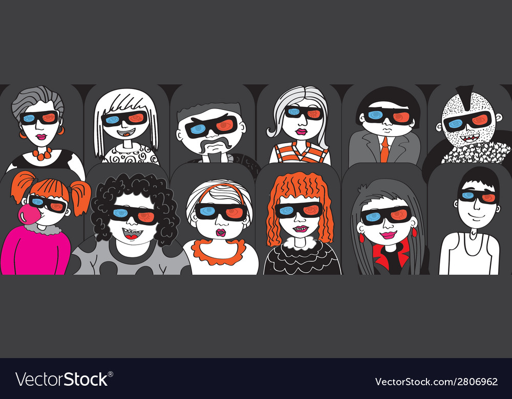 People in the audience cinema vector | Price: 1 Credit (USD $1)