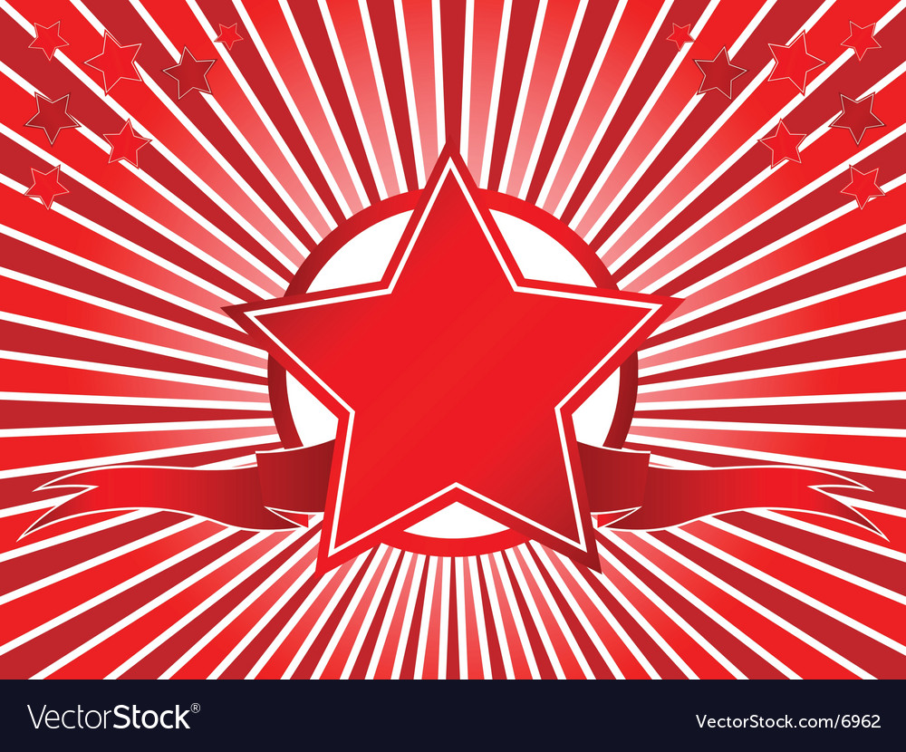 Red star vector | Price: 1 Credit (USD $1)