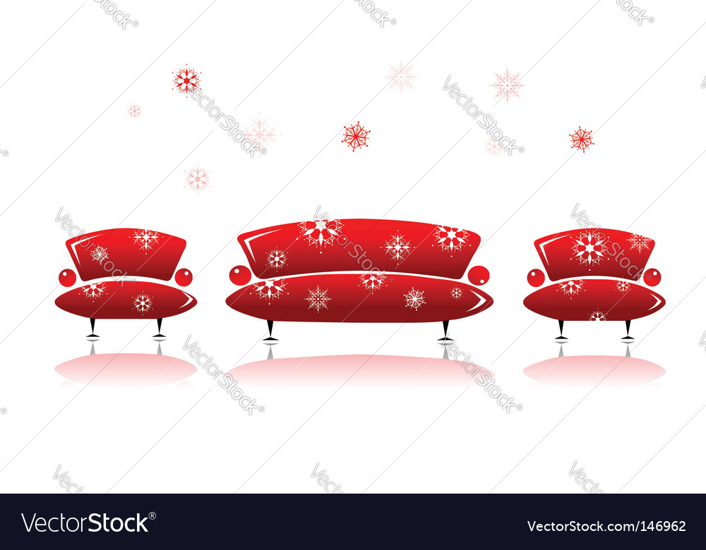 Sofa and armchair design vector | Price: 1 Credit (USD $1)