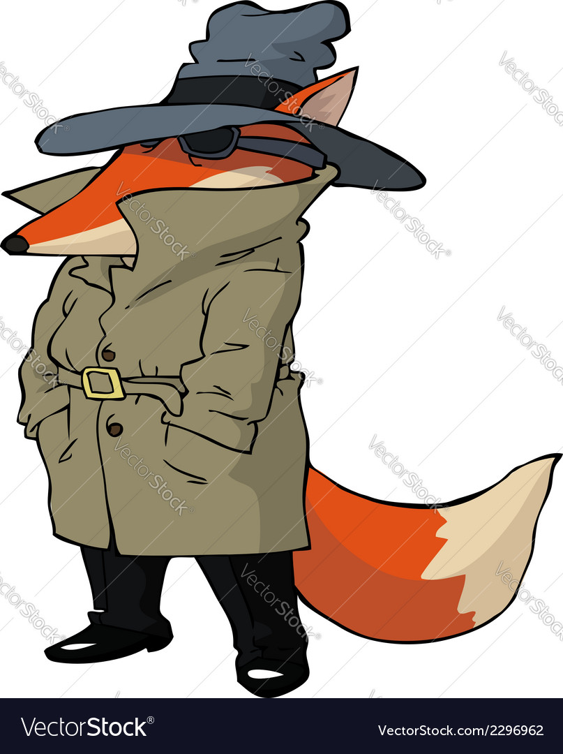 Spy fox vector | Price: 1 Credit (USD $1)