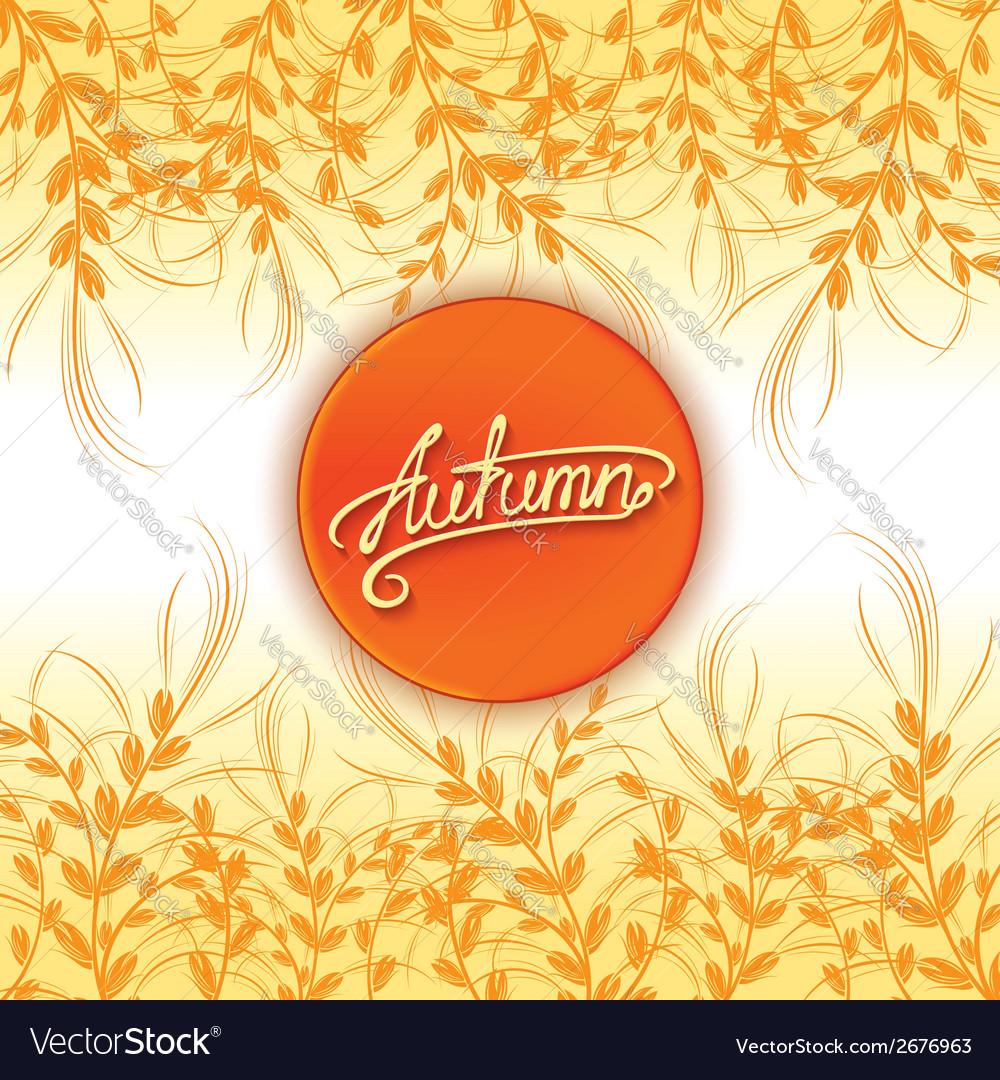 Autumn background design vector   Price: 1 Credit (USD $1)