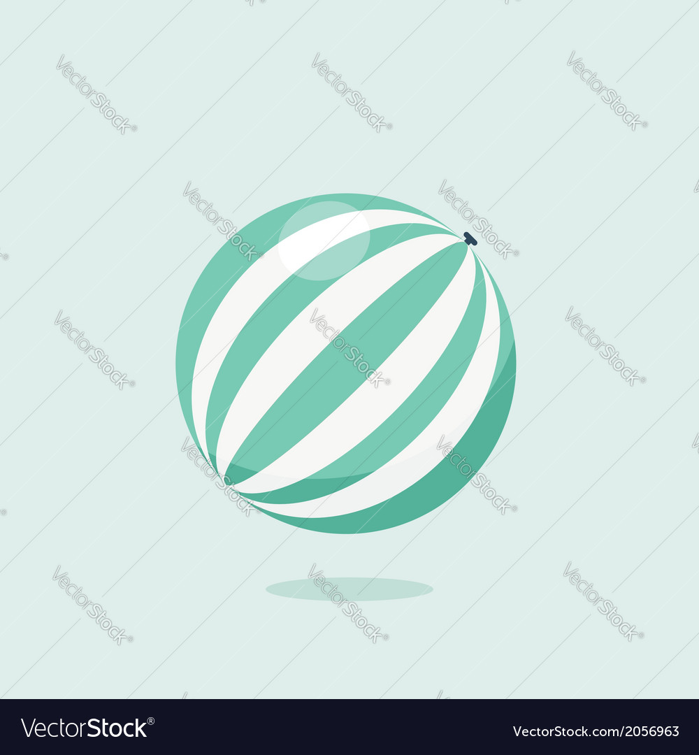 Bright inflatable ball isolated on white vector | Price: 1 Credit (USD $1)