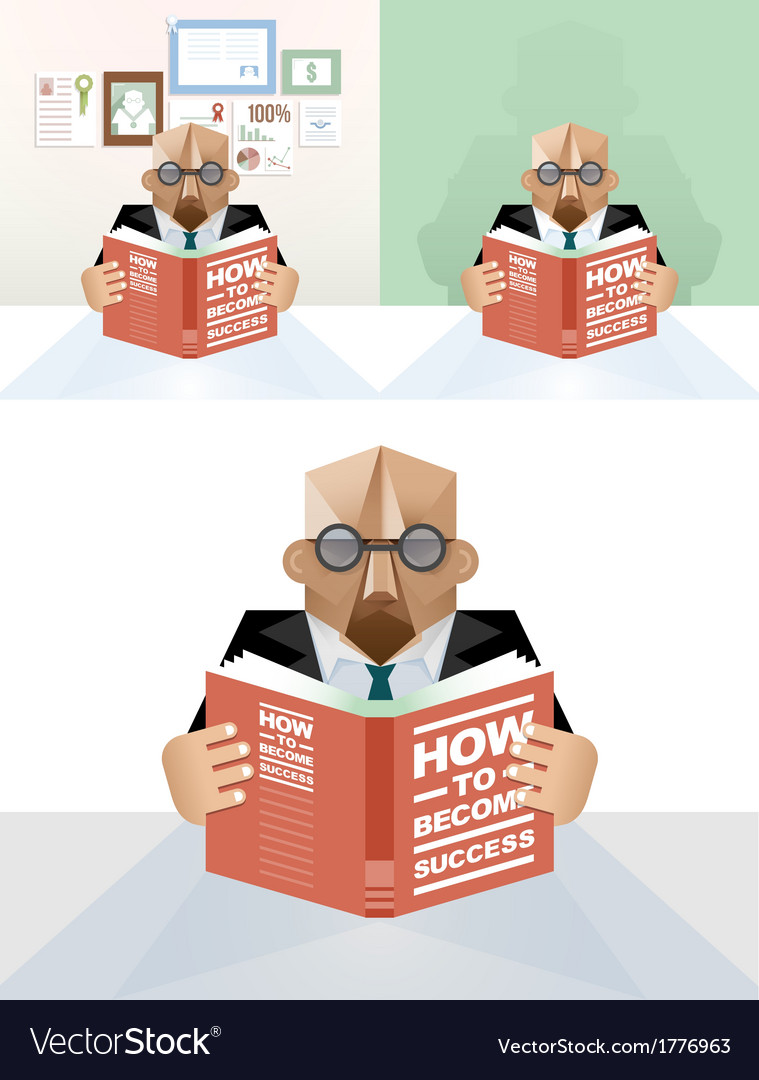 Businessman reading a book concept vector | Price: 1 Credit (USD $1)