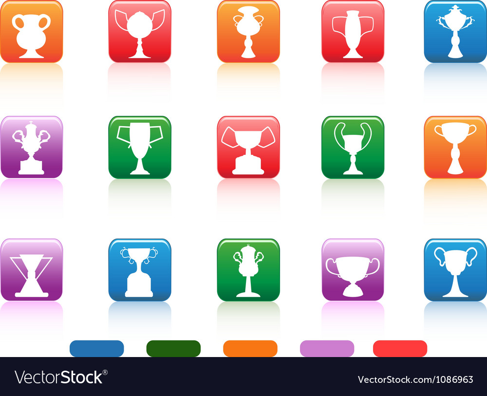Champion cup buttons icon vector | Price: 1 Credit (USD $1)