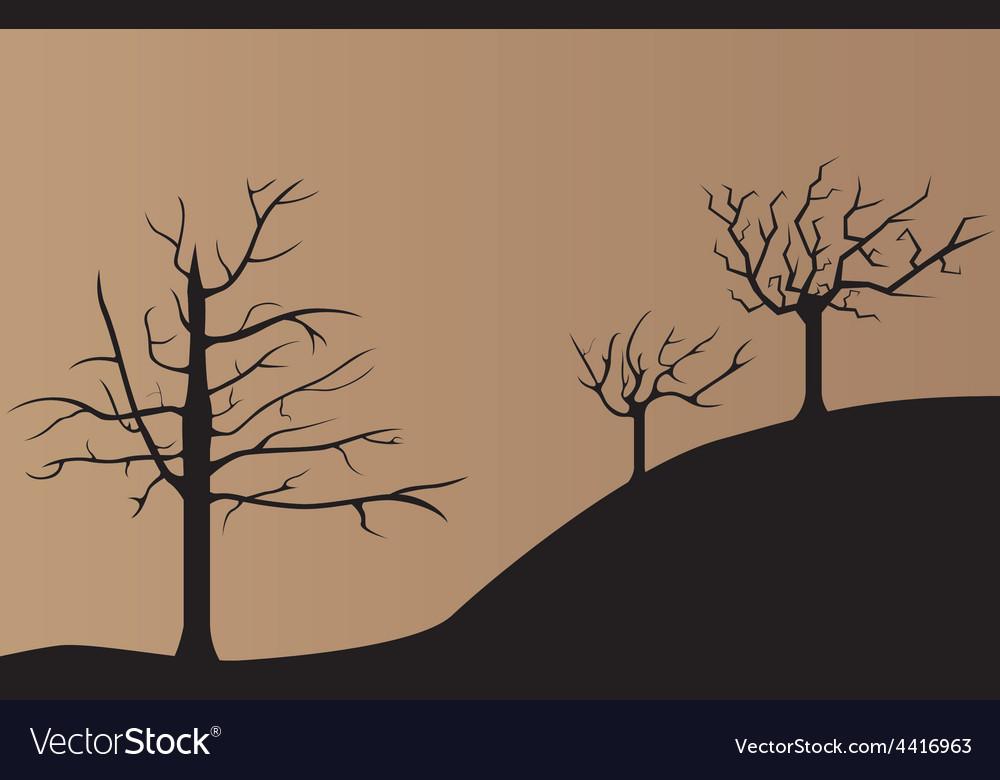 Dead tree background vector | Price: 1 Credit (USD $1)