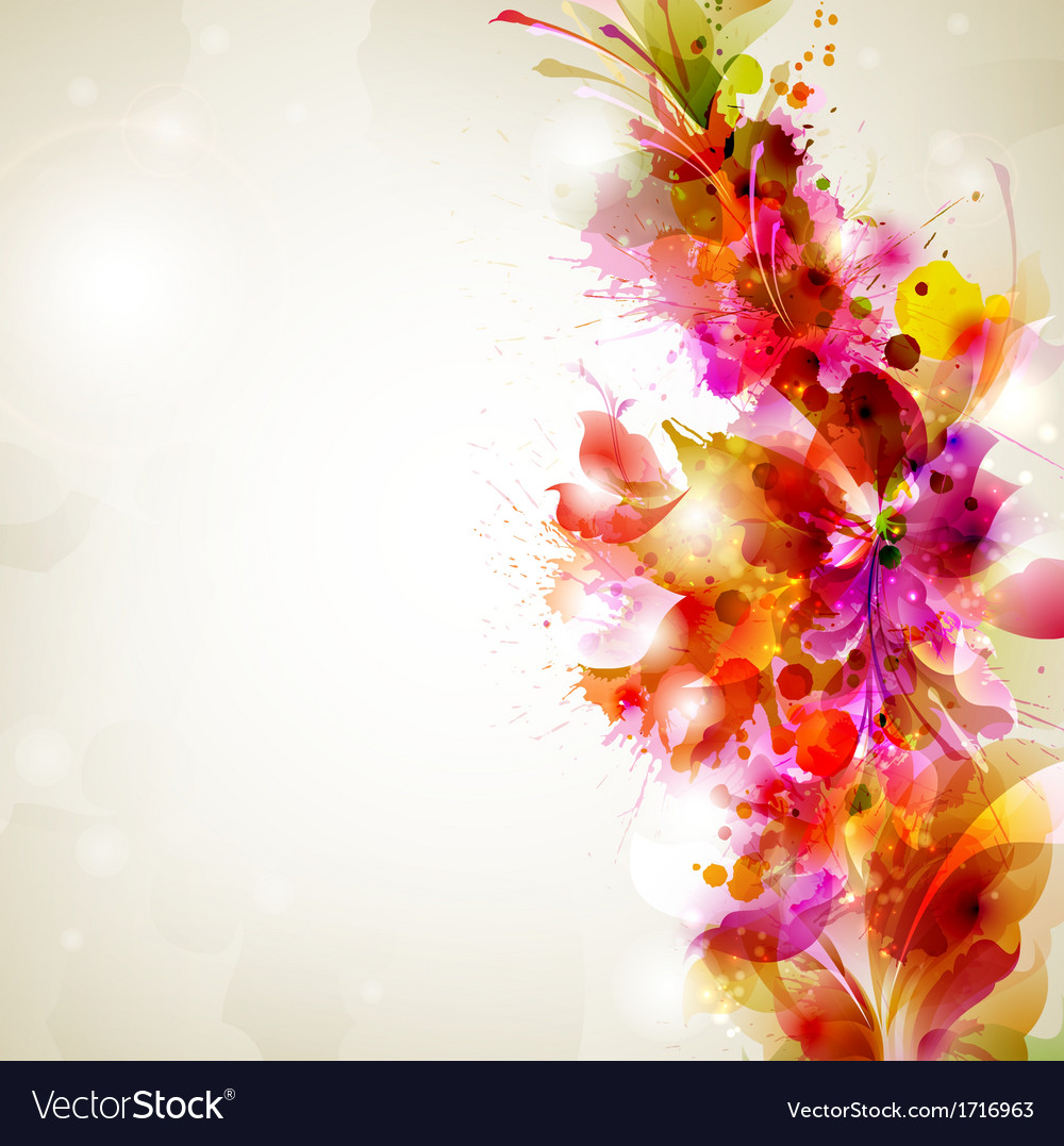 Flower and design vector | Price: 1 Credit (USD $1)
