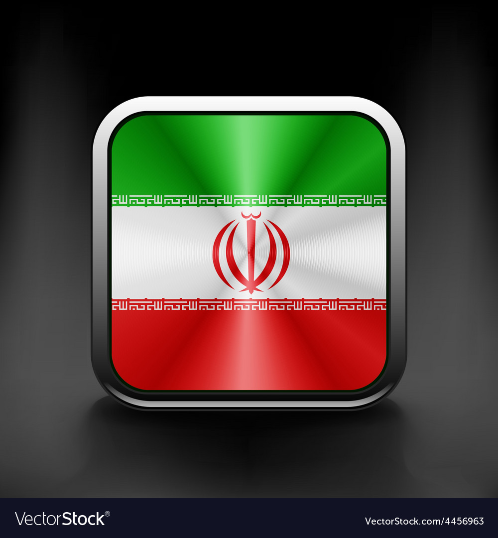 Iran icon flag national travel icon country symbol vector | Price: 1 Credit (USD $1)