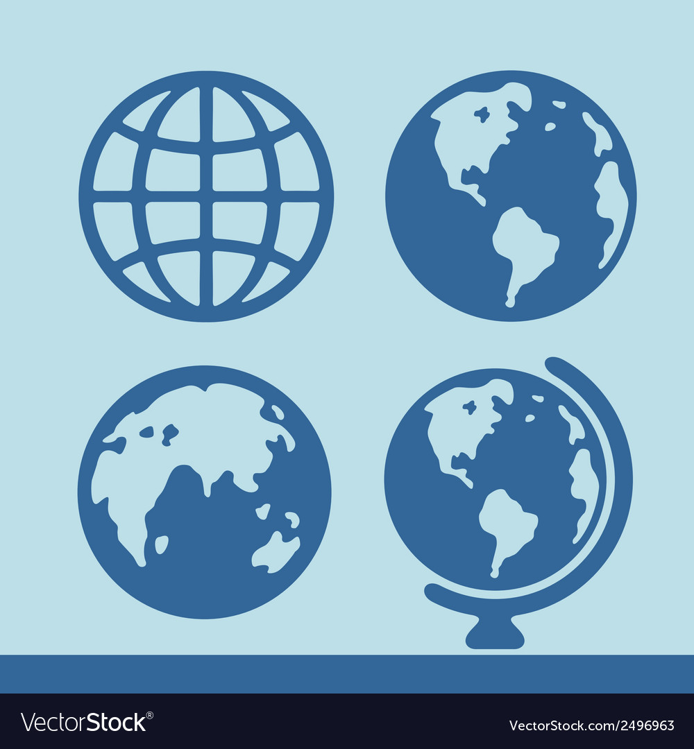 Planet symbol set vector | Price: 1 Credit (USD $1)