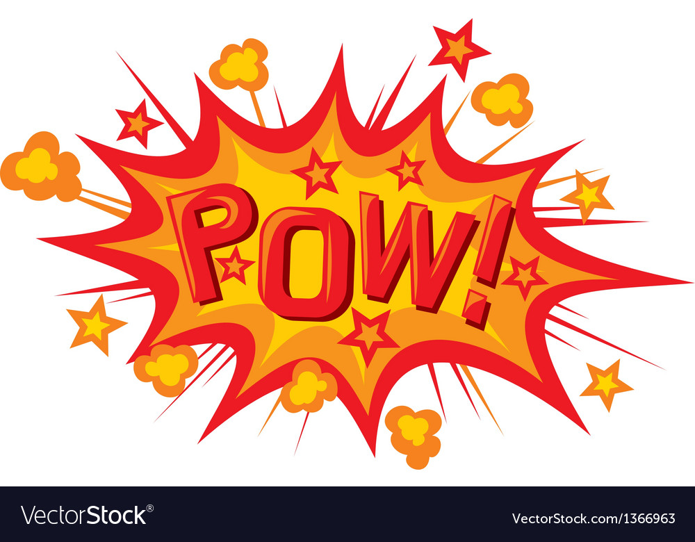 Pow comic book vector | Price: 1 Credit (USD $1)
