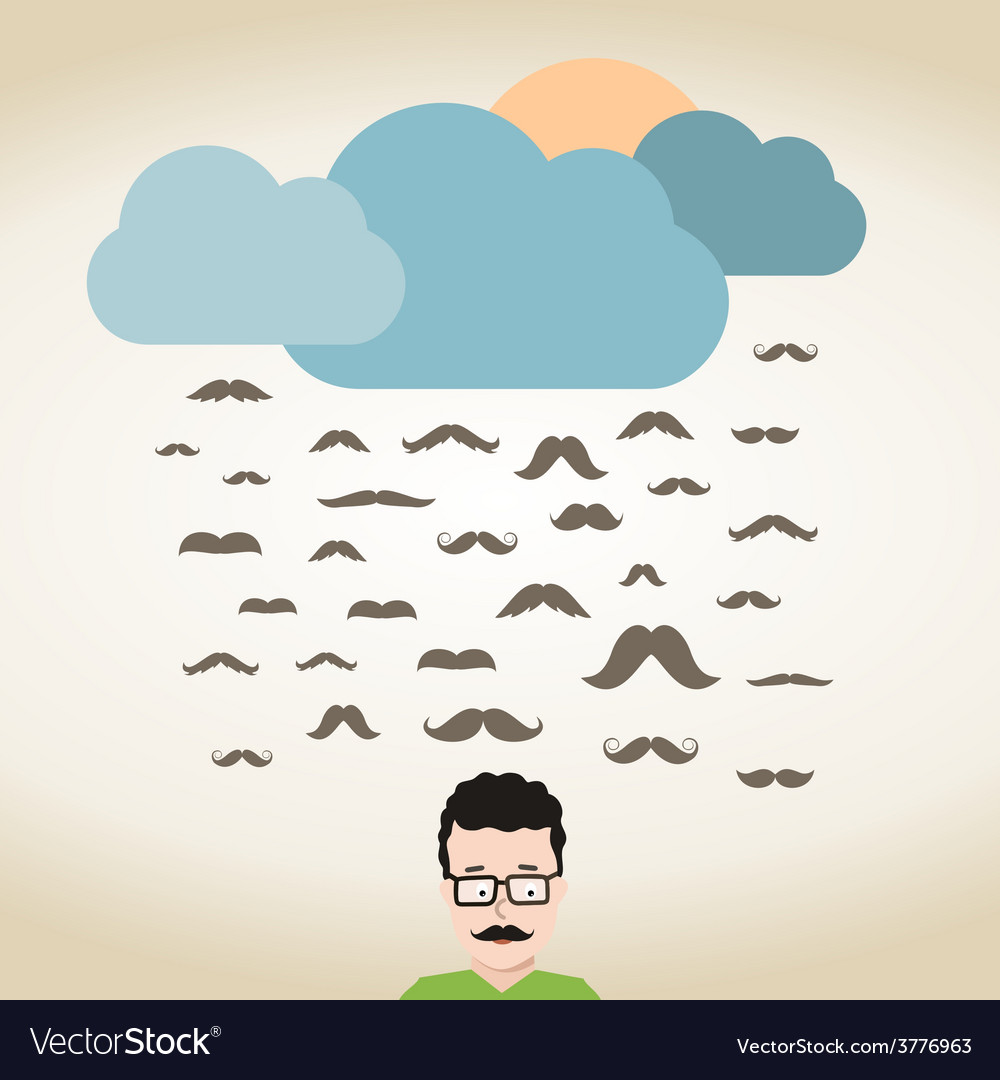 Rain mustache vector | Price: 1 Credit (USD $1)