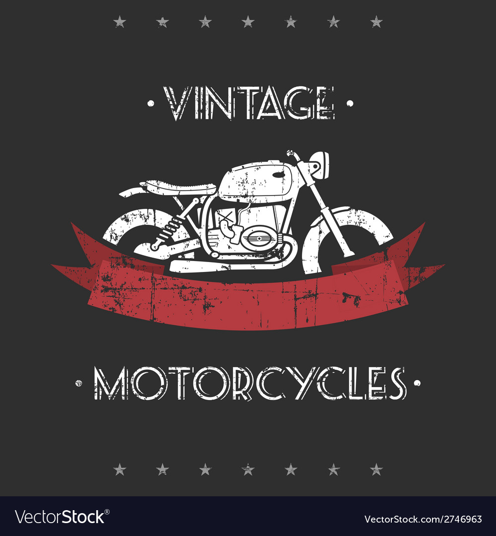 Retro motorcycle vector | Price: 1 Credit (USD $1)