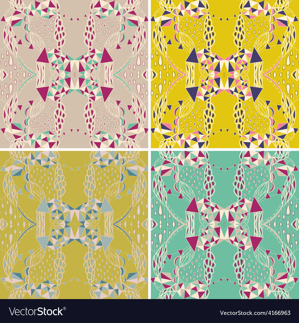 Set of traditional ornamental paisley bandanna vector | Price: 1 Credit (USD $1)