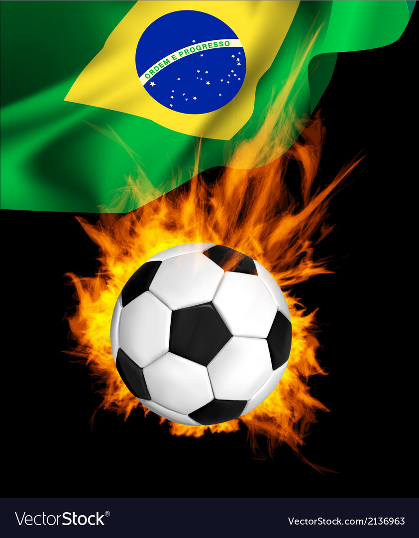 Soccer firflag vector | Price: 1 Credit (USD $1)