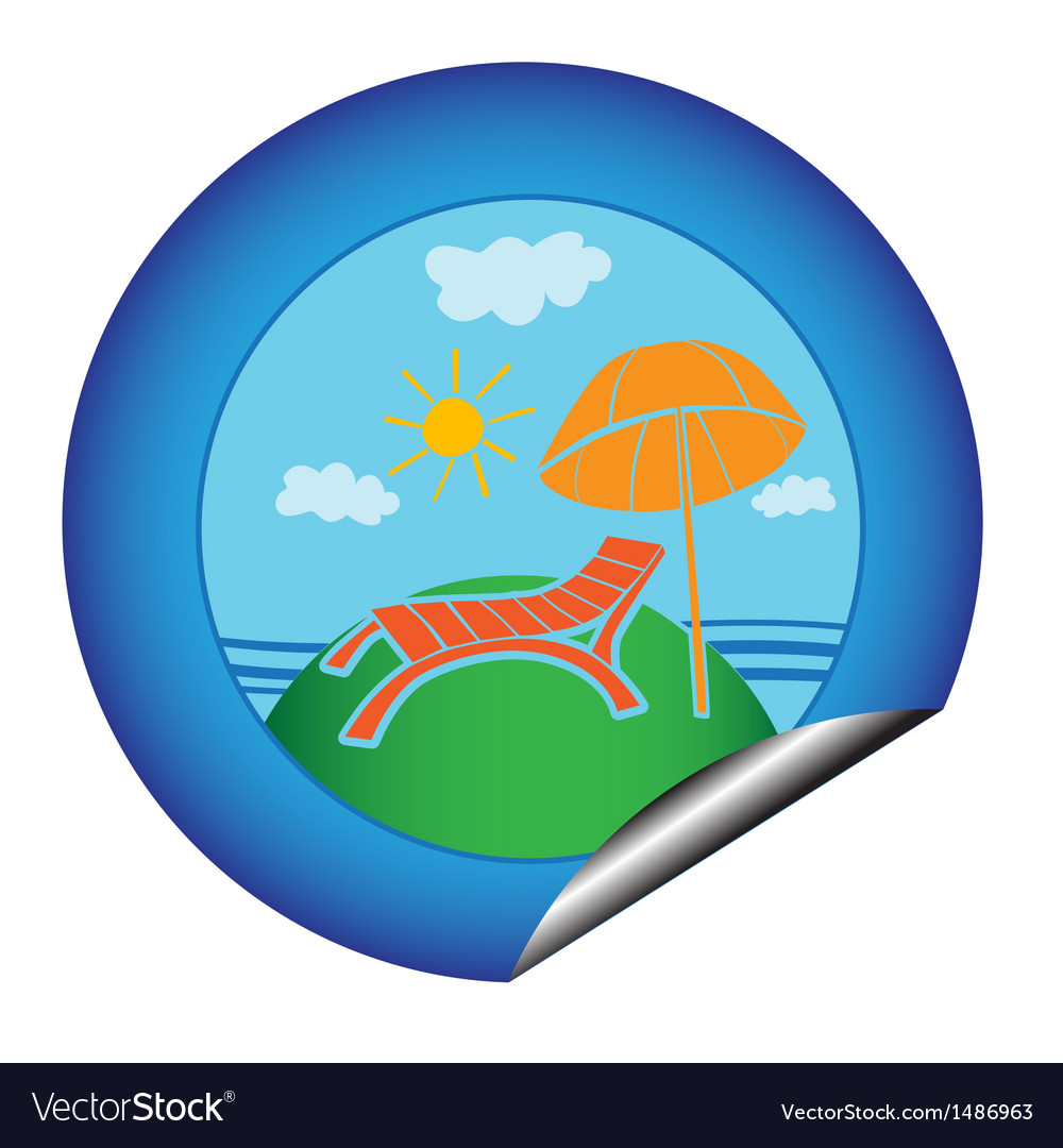 Vacation sticker vector | Price: 1 Credit (USD $1)