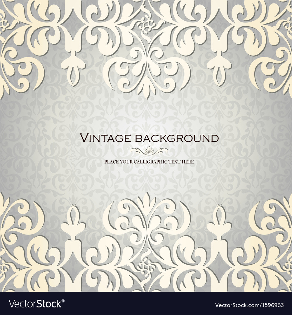 Vintage ornamental invitation card vector | Price: 1 Credit (USD $1)