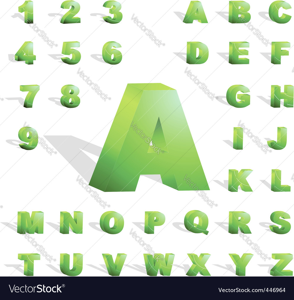 3d alphabet vector | Price: 1 Credit (USD $1)