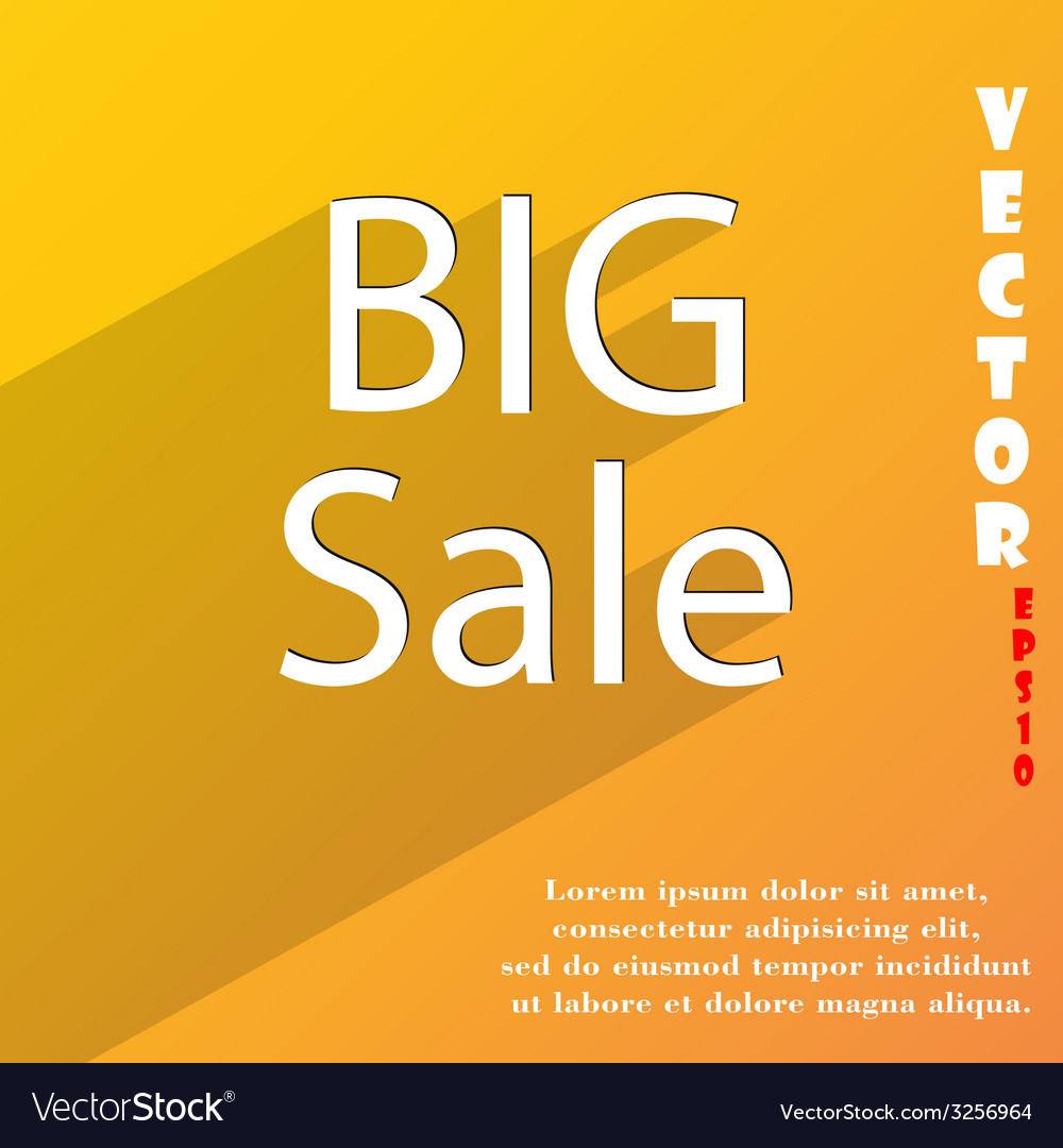 Big sale icon symbol flat modern web design with vector | Price: 1 Credit (USD $1)