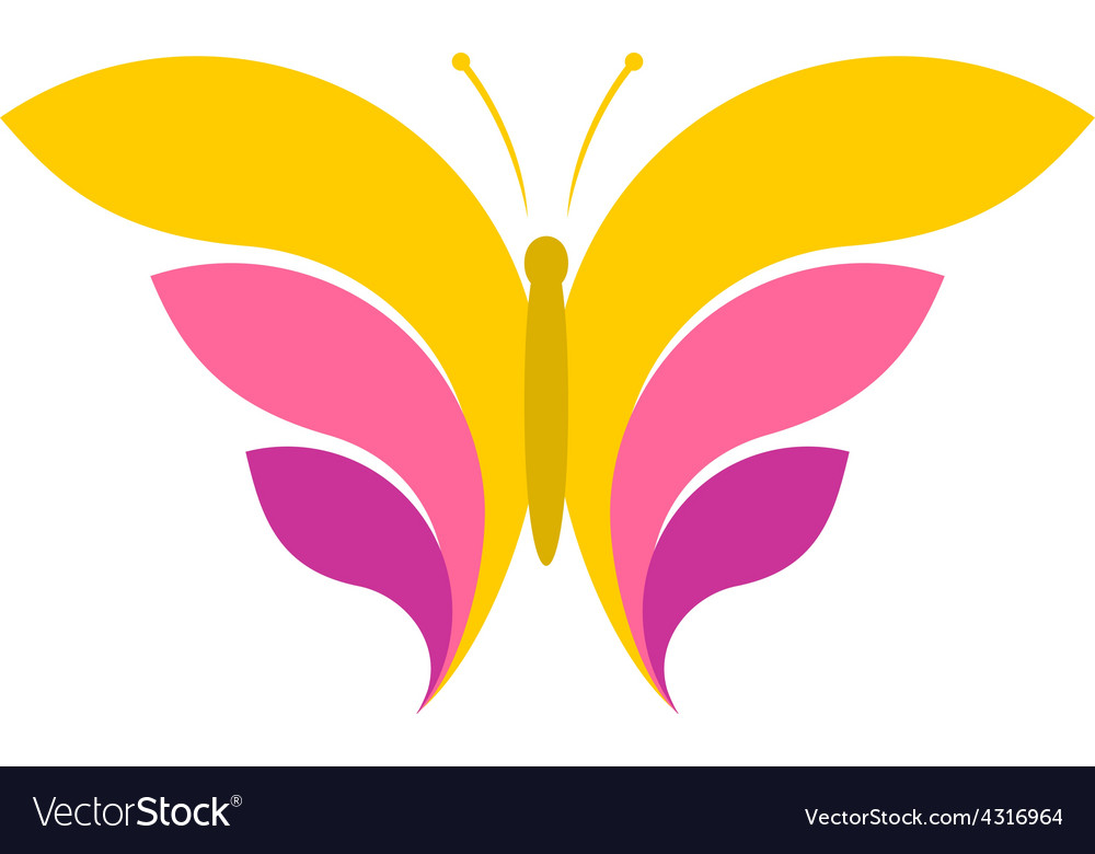 Butterfly simple logo vector | Price: 1 Credit (USD $1)