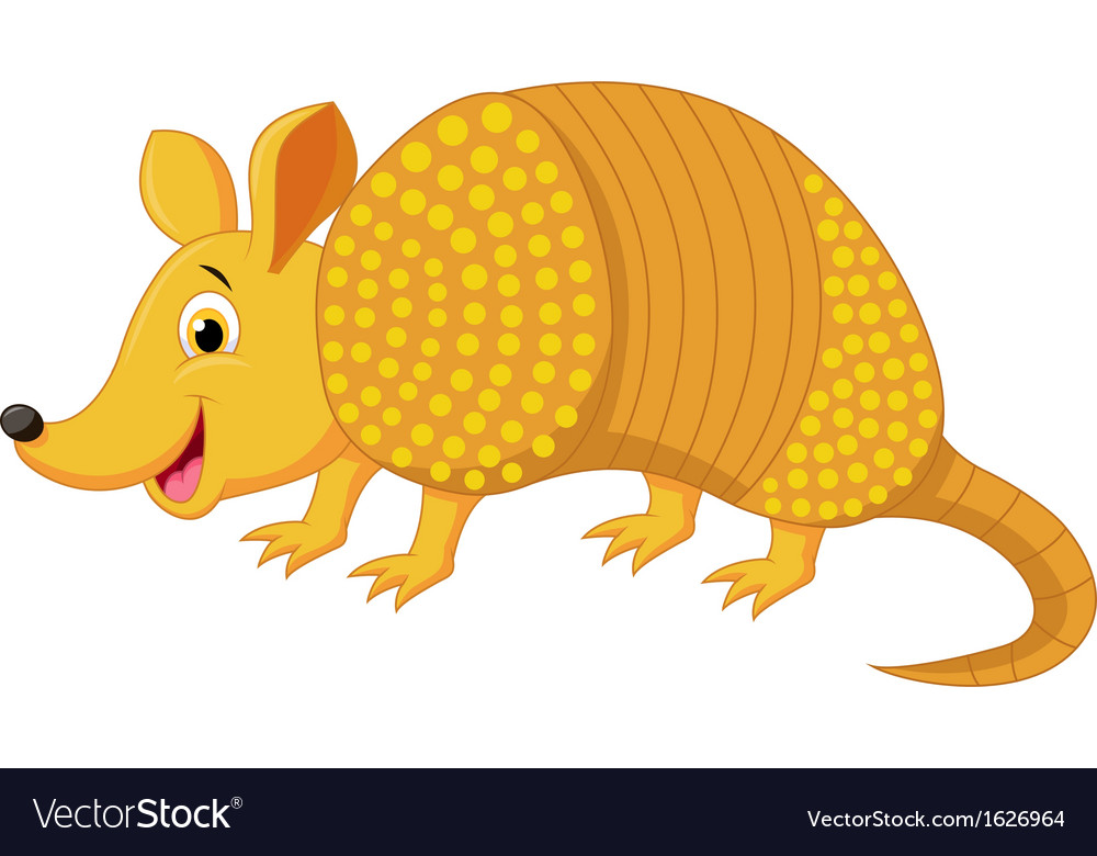 Cute armadillo cartoon vector | Price: 1 Credit (USD $1)