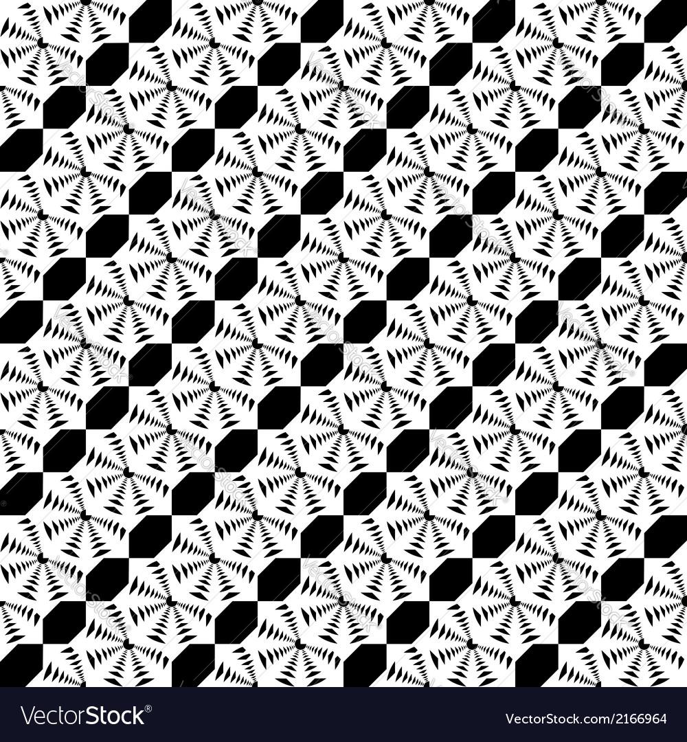Design seamless monochrome lace decorative pattern vector | Price: 1 Credit (USD $1)