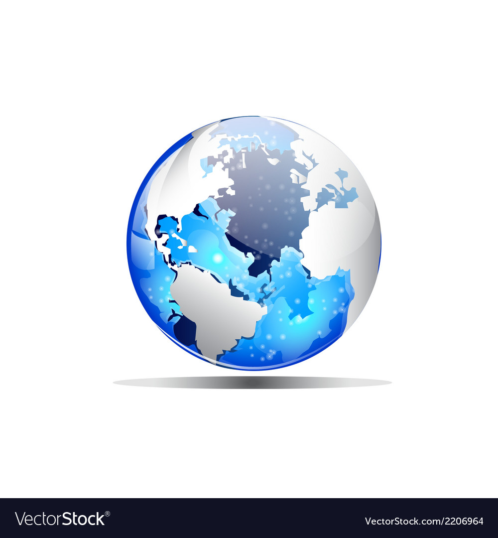 Earth blue vector | Price: 1 Credit (USD $1)