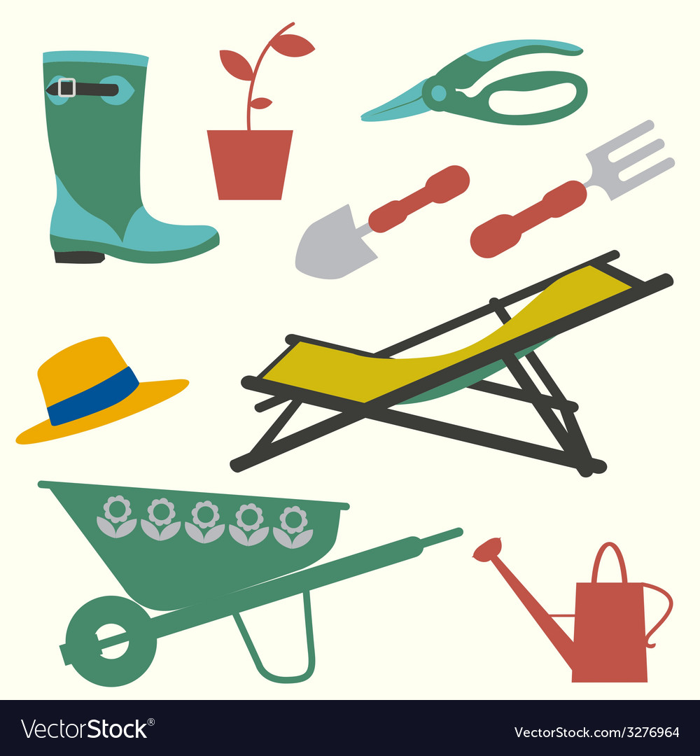 Gardening set vector | Price: 1 Credit (USD $1)