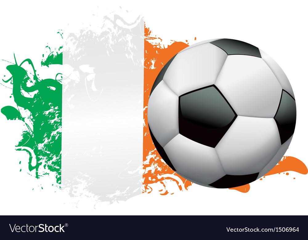 Ireland soccer grunge vector | Price: 1 Credit (USD $1)