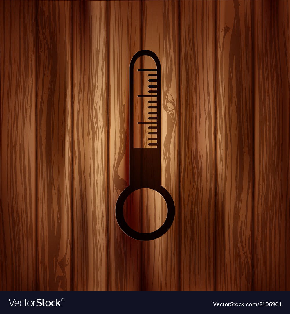 Thermometer web icon vector | Price: 1 Credit (USD $1)