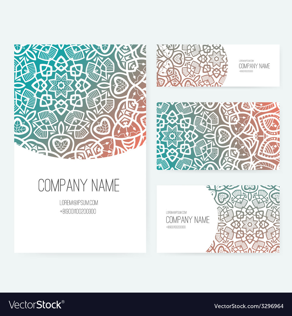 Ornamental business set dedign vector | Price: 1 Credit (USD $1)