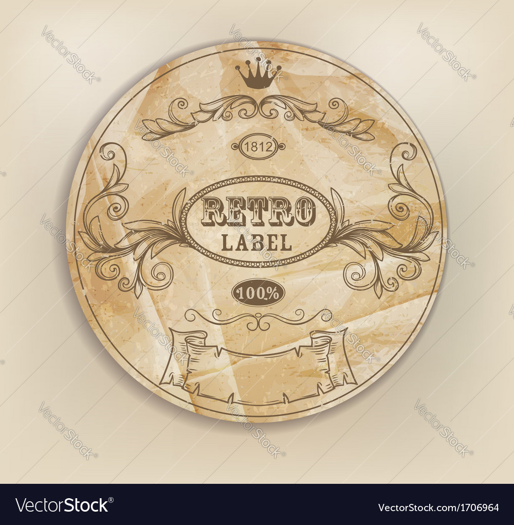 Vintage retro label vector | Price: 1 Credit (USD $1)