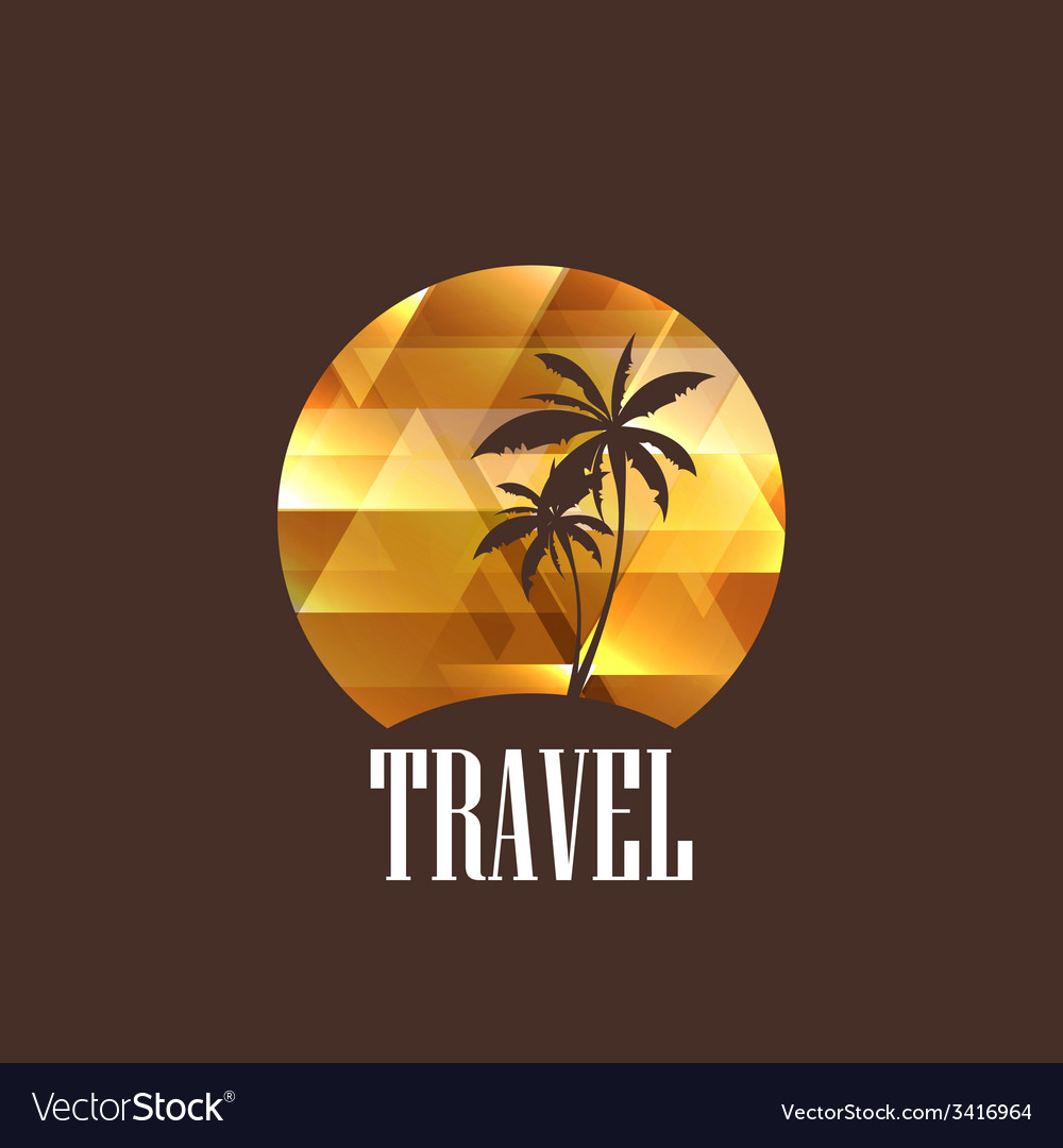 With diamond tropical island vector | Price: 1 Credit (USD $1)